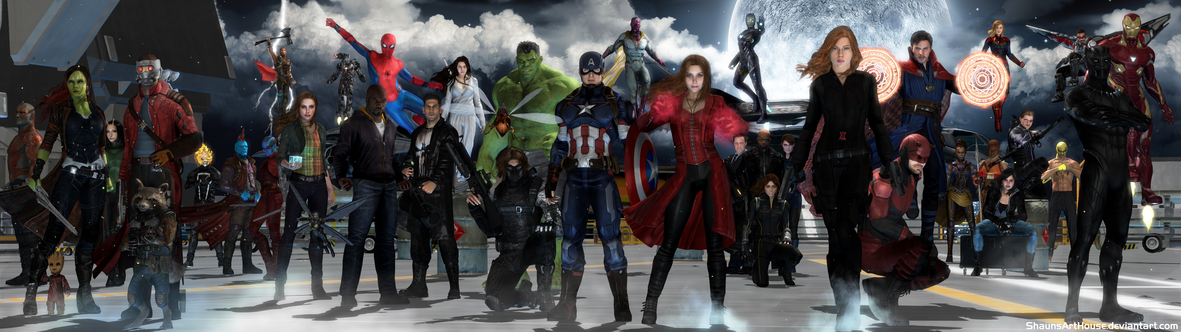 Avengers Mcu Dual Screen Wallpaper By Shaunsarthouse On Deviantart