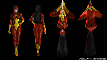 Spider-Woman - Gemma Arterton custom 3D model