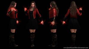Scarlet Witch - Elizabeth Olsen custom 3D model by ShaunsArtHouse