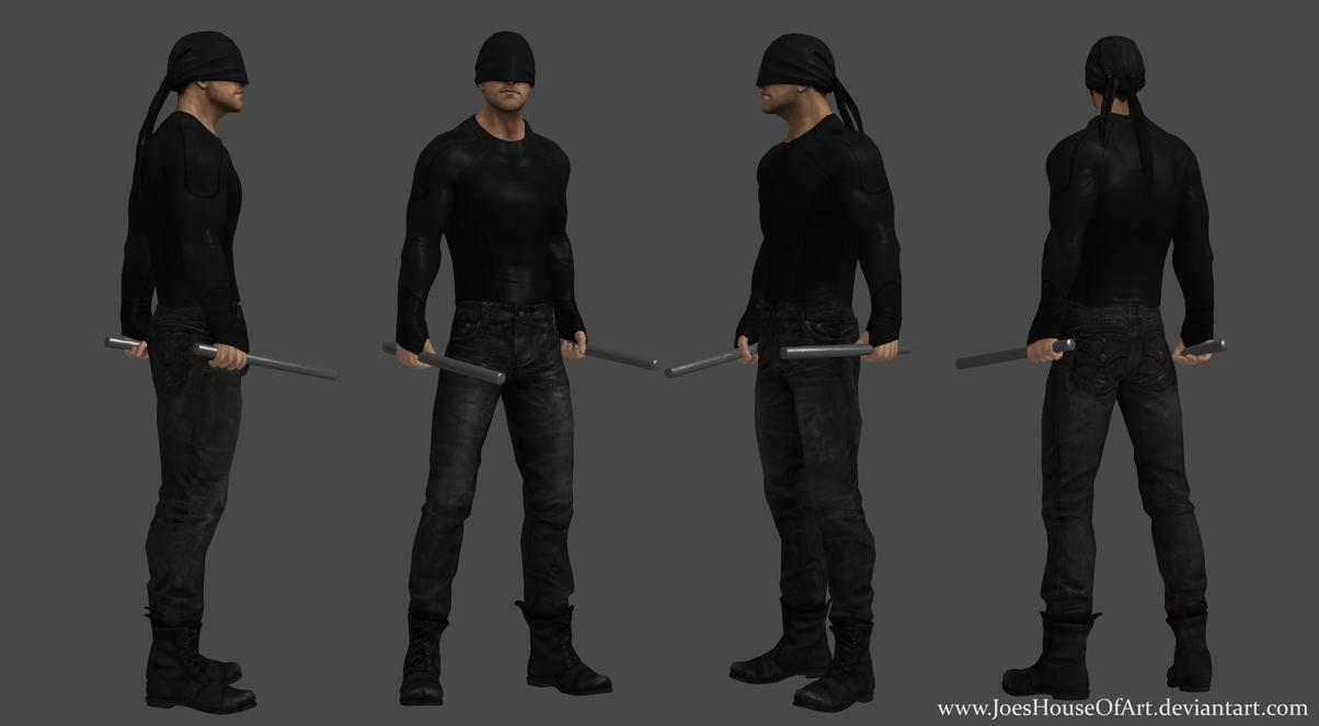 Netflix Daredevil - Charlie Cox custom 3d model by ShaunsArtHouse on ...