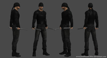 Netflix Daredevil - Charlie Cox custom 3d model