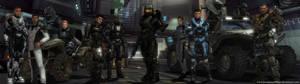 Legends of Halo Dual Screen Wallpaper