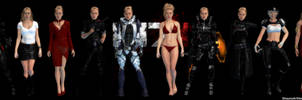 Mass Effect Occitania - Jessica Outfit Selection