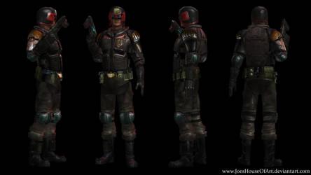 Judge Dredd - Karl Urban custom 3D model