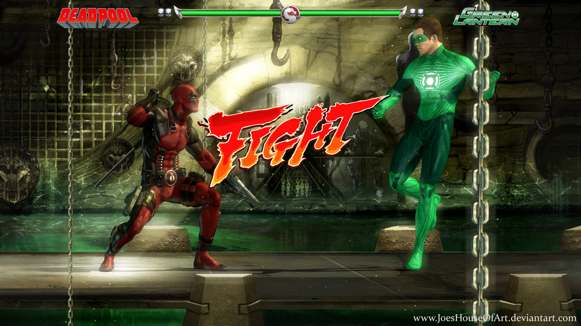 Super Heros Miniature Game Krossover_kombat___deadpool_v_green_lantern_by_joeshouseofart-d9ovbbu