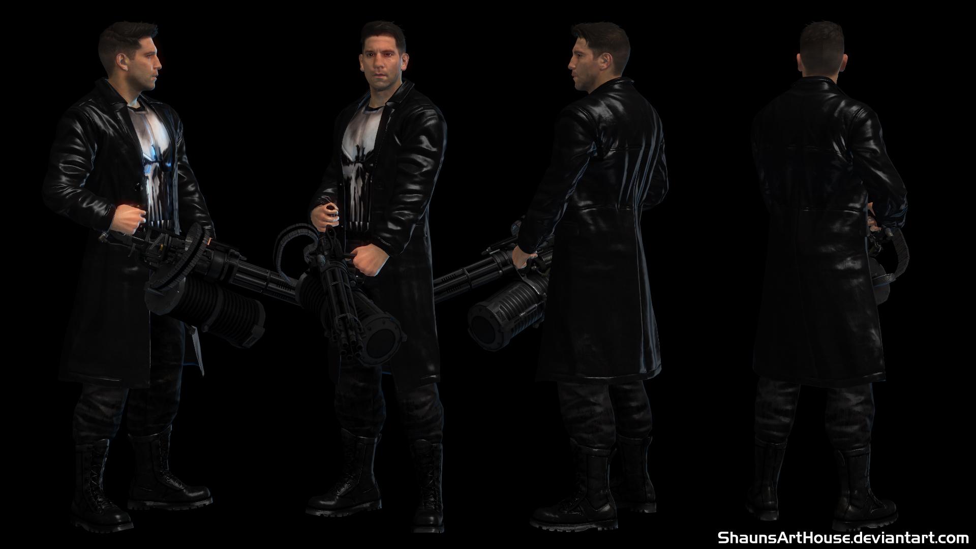 Punisher Netflix Jon Bernthal Custom 3d Model By Shaunsarthouse