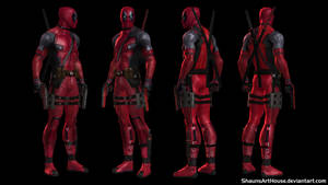 Deadpool Ryan Reynolds movie custom 3D model by ShaunsArtHouse