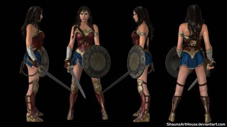 Wonder Woman - Gal Gadot custom 3D model