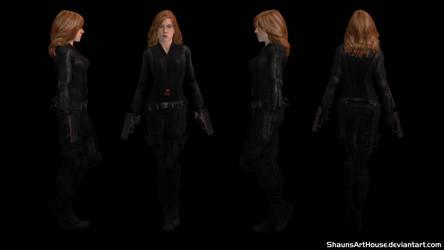 Scarlett Johansson Black Widow CW custom 3D model by ShaunsArtHouse