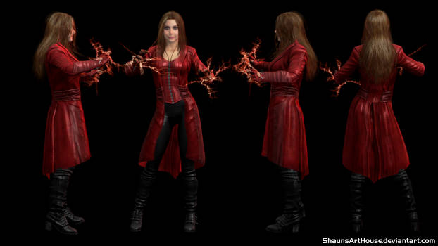Scarlet Witch CW- Elizabeth Olsen custom 3D model by ShaunsArtHouse