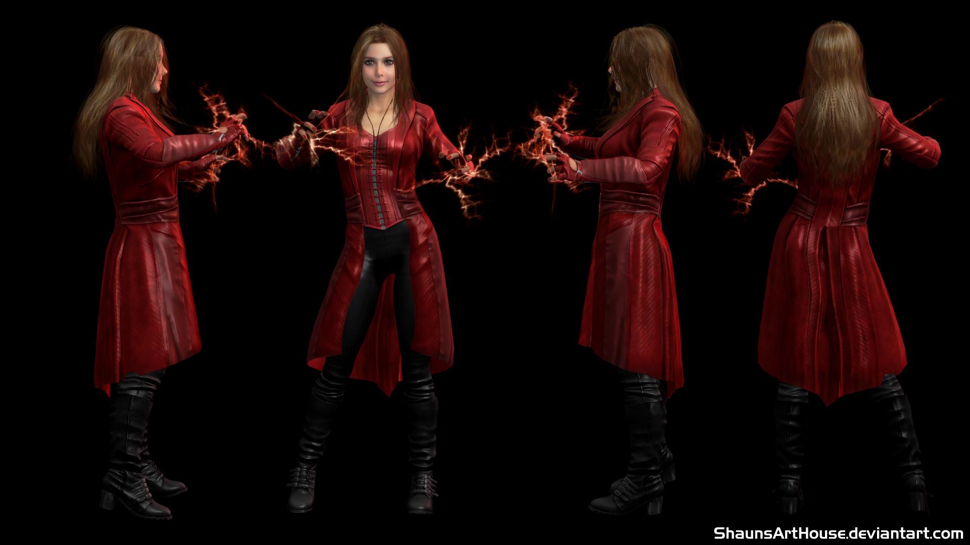 Scarlet Witch CW- Elizabeth Olsen custom 3D model by ShaunsArtHouse