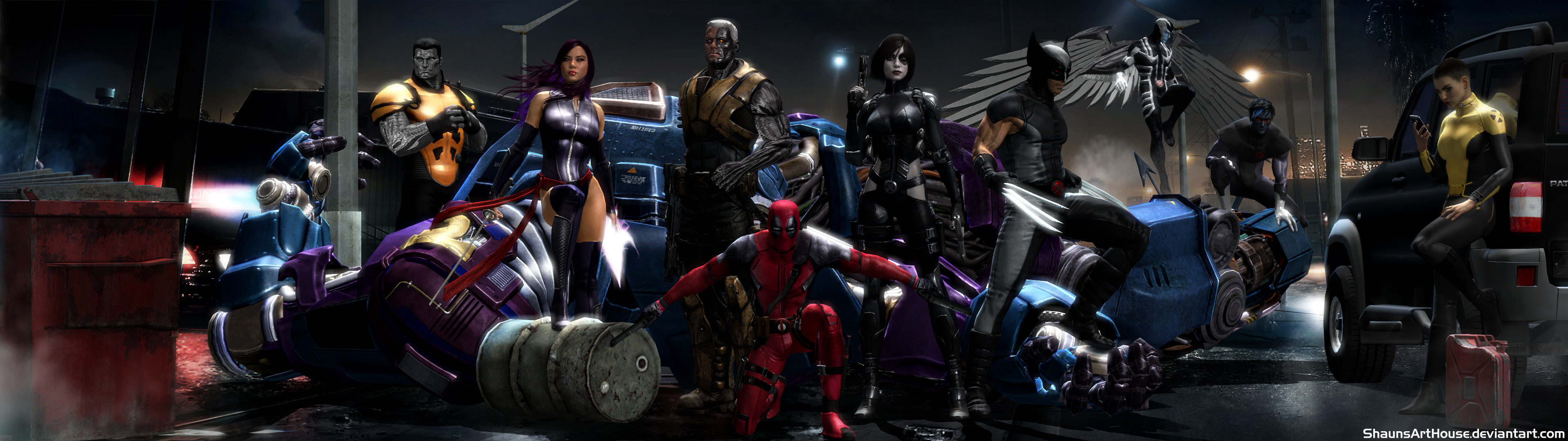 X Force Movie Dual Screen Wallpaper By ShaunsArtHouse