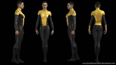 Negasonic Teenage Warhead movie custom 3D model