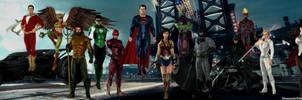 Justice League DCEU CW Dual Screen Wallpaper