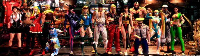 Street Fighter V Alt Outfits Dual Screen Wallpaper by ShaunsArtHouse