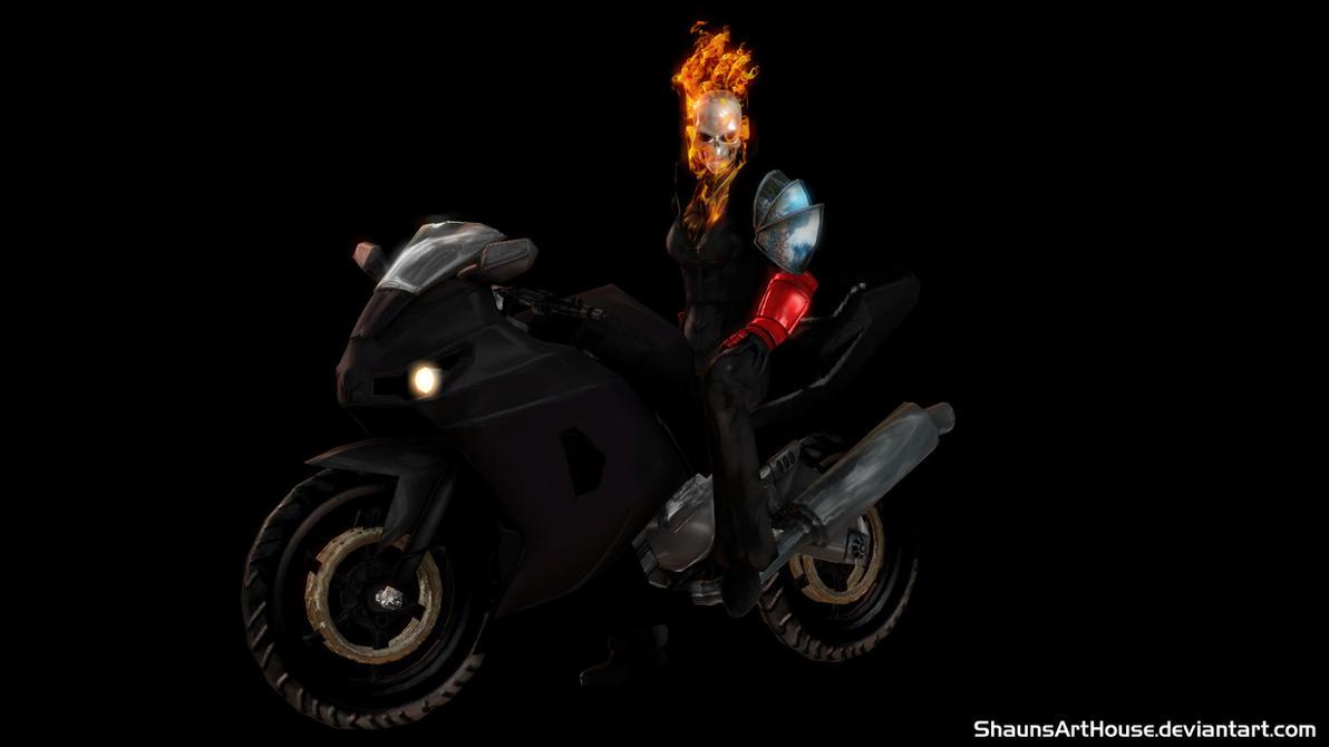 Ghost Rider Alejandra Blaze Wallpaper By ShaunsArtHouse