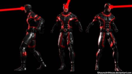 X-Men Cyclops Marvel Now Custom 3d model