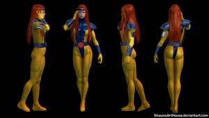 X-Men Jean Grey 90's Custom 3D model by ShaunsArtHouse