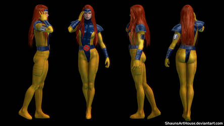 X-Men Jean Grey 90's Custom 3D model