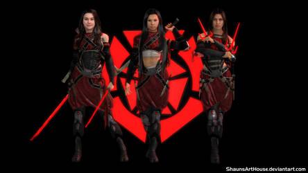 Mass Effect Occitania 3 - Shinja Sword Sisters by ShaunsArtHouse