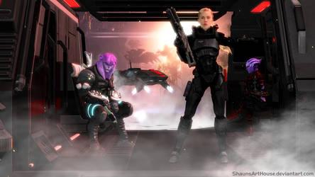 Mass Effect Occitania 3 - Arrival on Albedo III by ShaunsArtHouse