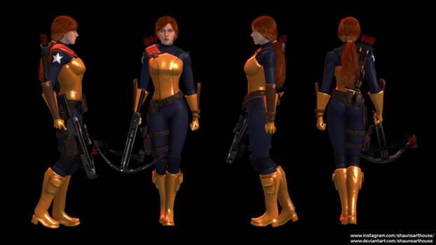 G.I.Joe Scarlett O'Hara custom 3D model