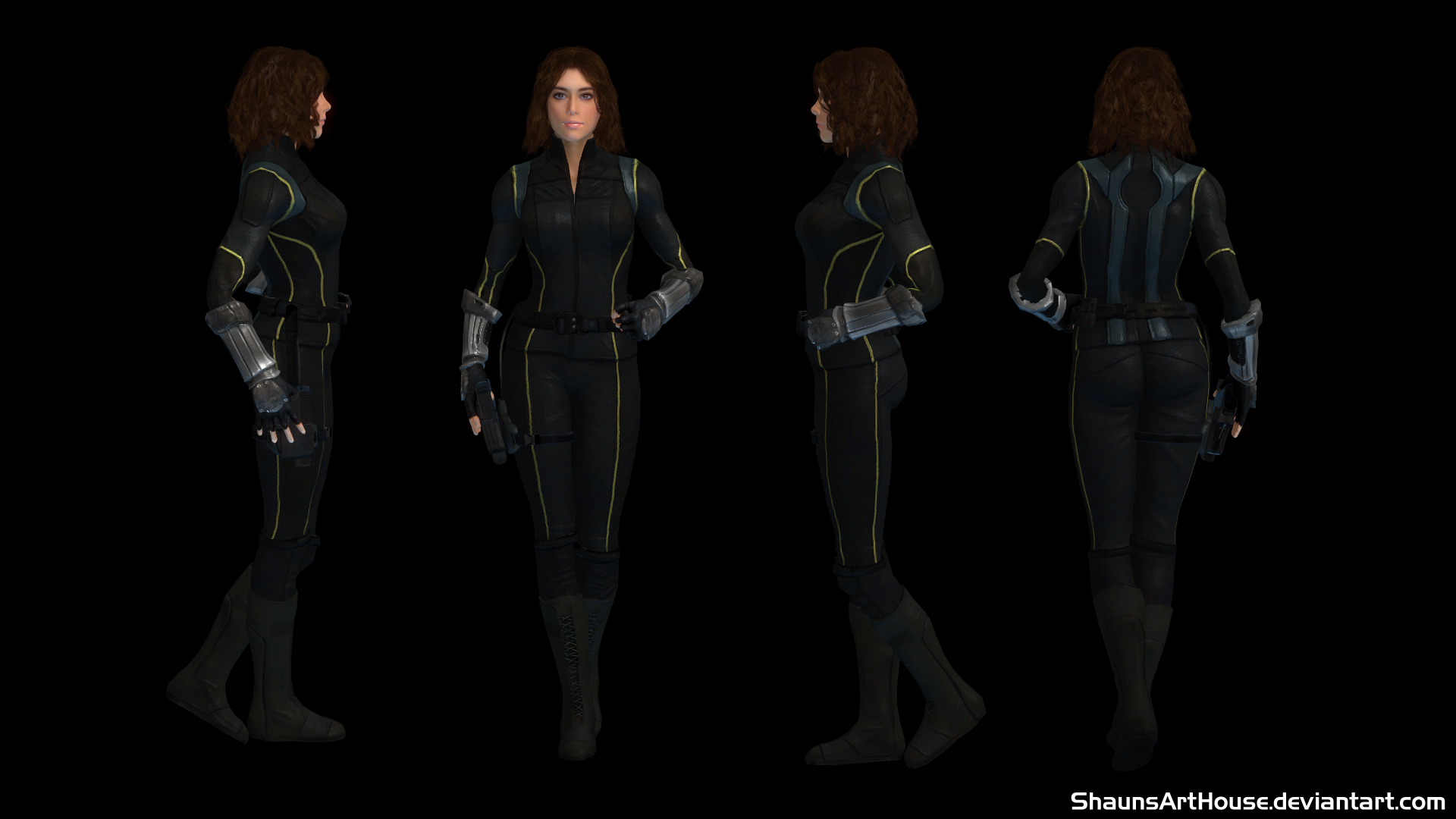 Quake Chloe Bennet Custom 3d Model By Shaunsarthouse On Deviantart