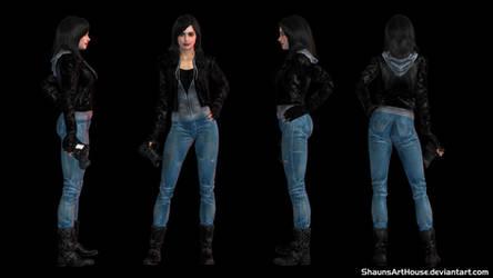 Krysten Ritter Jessica Jones custom 3D model by ShaunsArtHouse