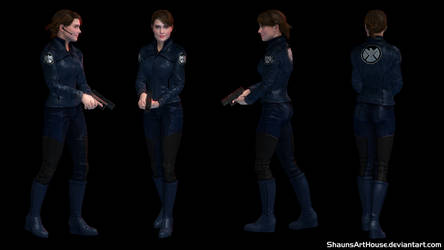 Maria Hill - Cobie Smulders custom 3D model by ShaunsArtHouse