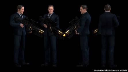 Agent Phil Coulson - Clark Gregg custom 3D model by ShaunsArtHouse