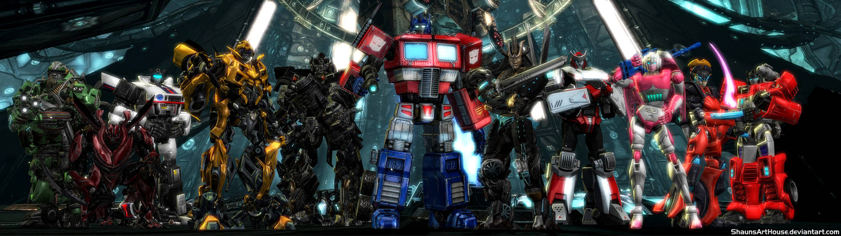 Transformers G1 Autobots Dual Screen Wallpaper By