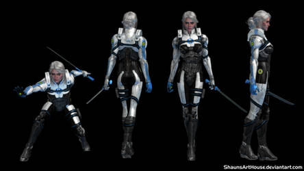 Mass Effect X Witcher - Ciri by ShaunsArtHouse