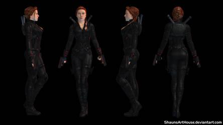 Scarlett Johansson Black Widow Endgame 3D model by ShaunsArtHouse