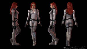 Black Widow Movie White Outfit custom 3D model