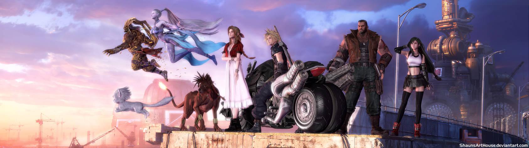 Final Fantasy 7 Remake Dual Screen Wallpaper