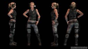 Scarlett Johansson Aliens Newt Adult concept