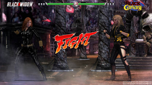 Krossover Kombat - Black Widow Vs Black Canary