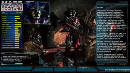 Mass Effect Occitania Profile - Vox Maric