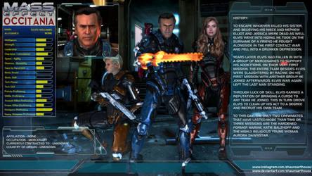 Mass Effect Occitania - Elvis Williams Profile