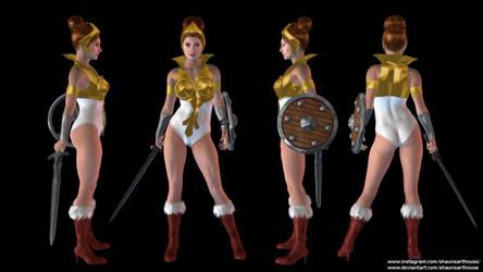 Teela He-Man MOTU custom 3D model