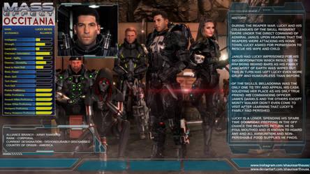 Mass Effect Occitania - Lucky Keyes Profile