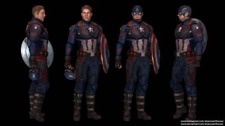 Captain America - Endgame Evans custom 3D model