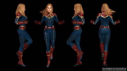 Captain Marvel - Brie Larson custom 3D model