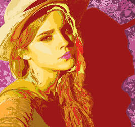 Cowgirl Emma Watson