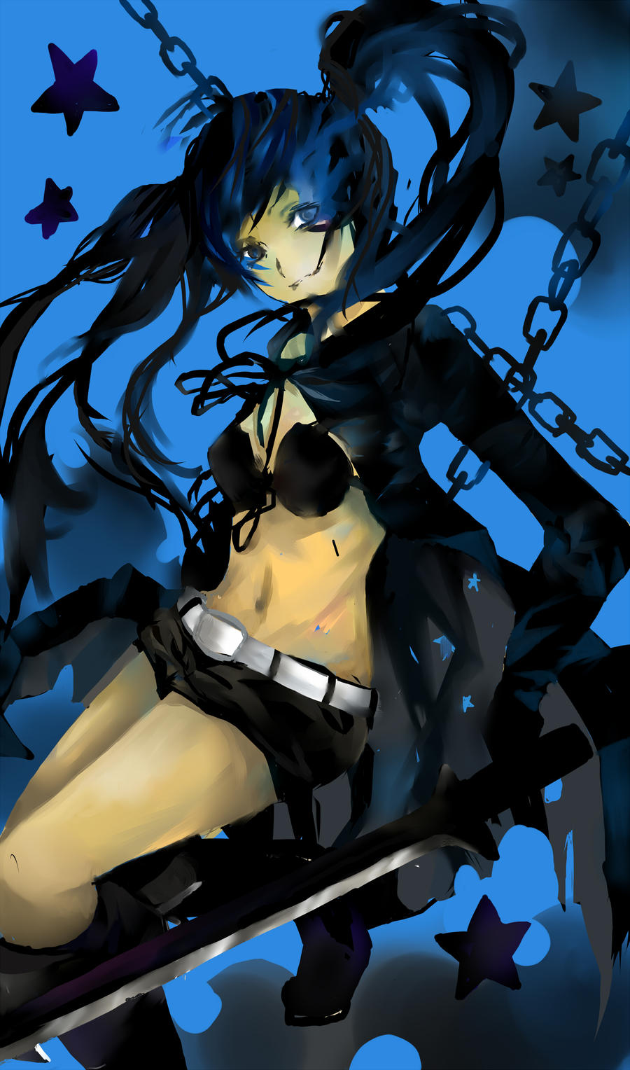 Black Rock Shooter by roflzombies
