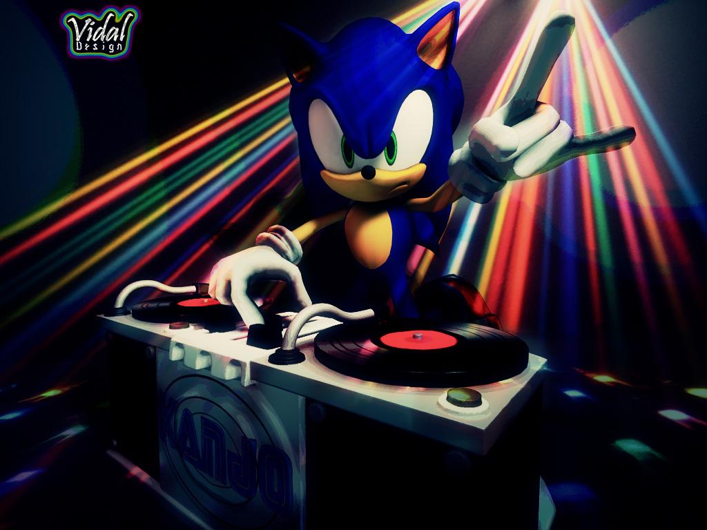 Dj Artwork Design Sonic the hedgehog dj 3d (for