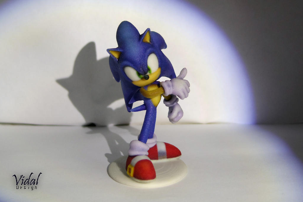 Sonic the HedgeHog 3D Printed New model by Vidal-Design