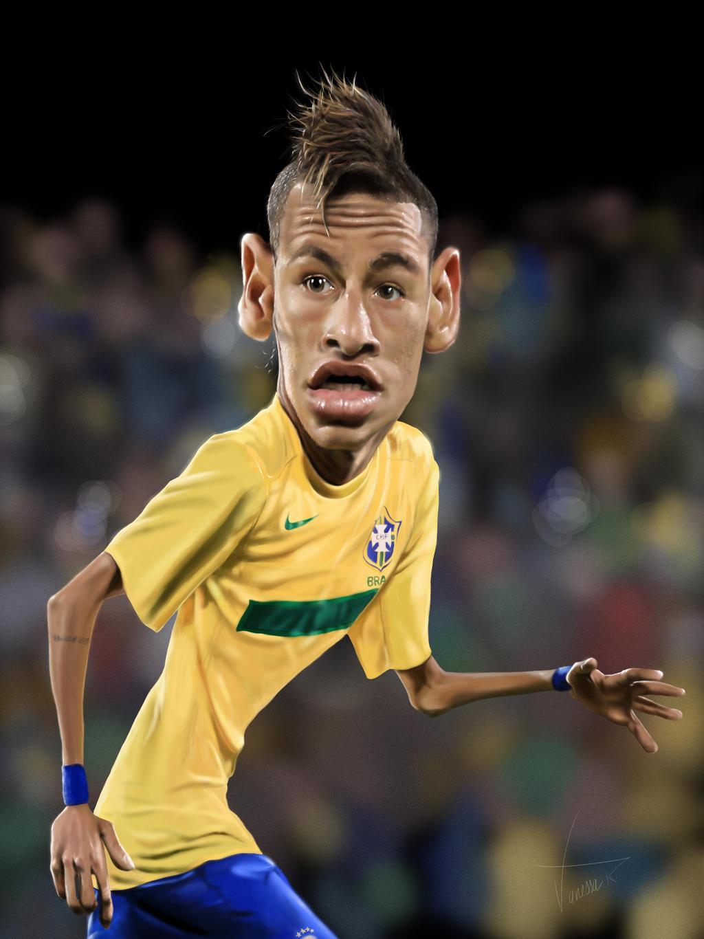 Neymar Cartoon Drawing Neymar by vanessaribeiro