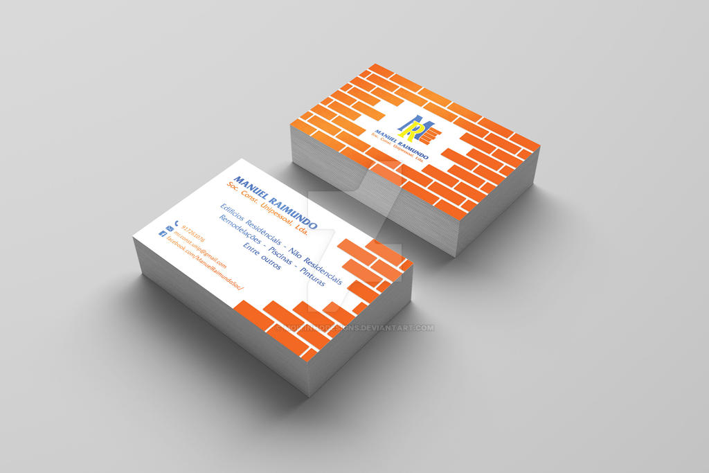 MR Soc. Const. Buisness Card by MoitinhoDesigns