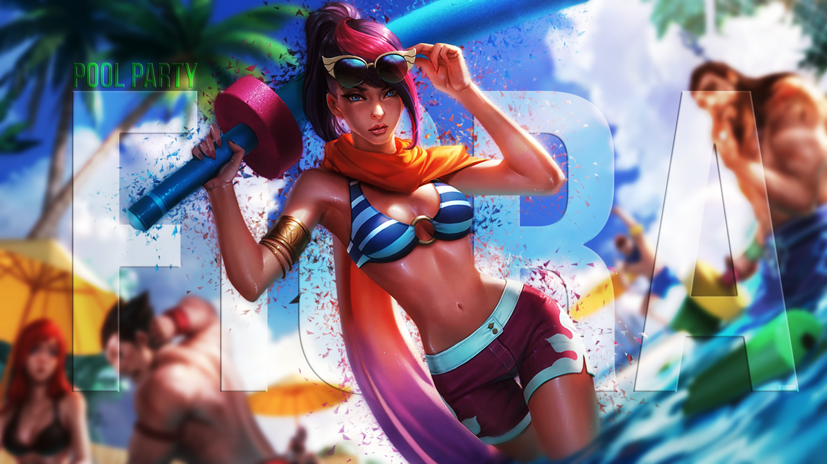 Pool Party Fiora by DimisionART on DeviantArt